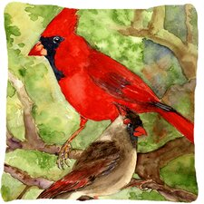 Northern Cardinal Indoor/Outdoor Throw Pillow