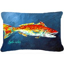 Today Only Sale Red Fish Red for Jarett Indoor/Outdoor Throw Pillow