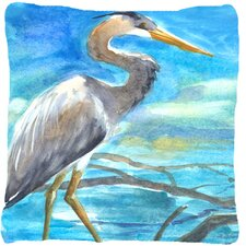 Herry Up Blue Heron Indoor/Outdoor Throw Pillow