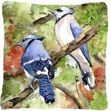 Blue Jay Indoor/Outdoor Throw Pillow