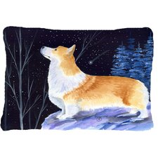 Starry Night Corgi Indoor/Outdoor Throw Pillow