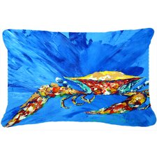 Big Splash Crab Indoor/Outdoor Throw Pillow