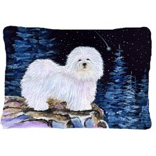 Starry Night Coton De Tulear Indoor/Outdoor Throw Pillow