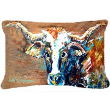 On The Loose Cow Indoor/Outdoor Throw Pillow