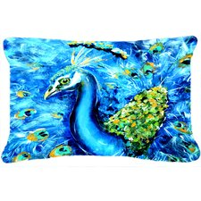 Peacock Straight Up Indoor/Outdoor Throw Pillow