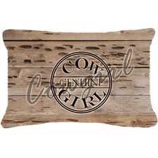 Genuine Cow Girl Branded Indoor/Outdoor Throw Pillow