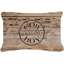 Genuine Cow Boy Branded Indoor/Outdoor Throw Pillow