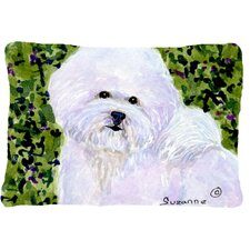 Today Sale Only Bichon Frise Indoor/Outdoor Throw Pillow