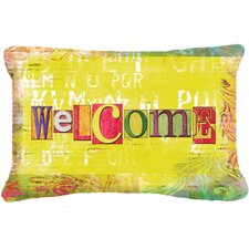 Artsy Welcome Indoor/Outdoor Throw Pillow