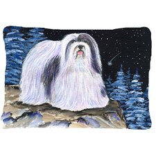 Starry Night Havanese Indoor/Outdoor Throw Pillow