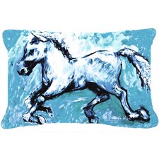 Shadow The Horse Indoor/Outdoor Throw Pillow