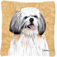 Reviews Shih Tzu Indoor/Outdoor Throw Pillow
