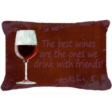 The Best Wines Are The Ones We Drink with Friends Indoor/Outdoor Throw Pillow