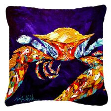Crab The Right Stuff Indoor/Outdoor Throw Pillow