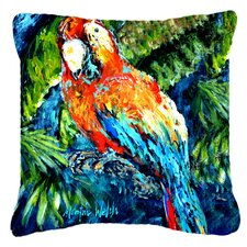 Yo Yo Mama Parrot Indoor/Outdoor Throw Pillow