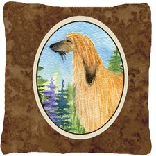Afghan Hound Indoor/Outdoor Throw Pillow