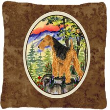 Wonderful Welsh Terrier Indoor/Outdoor Throw Pillow
