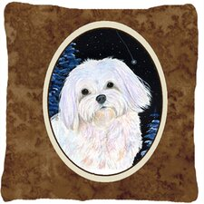 Starry Night Maltese Indoor/Outdoor Throw Pillow