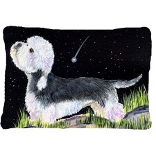 Today Sale Only Starry Night Dandie Dinmont Terrier Indoor/Outdoor Throw Pillow