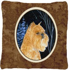 Starry Night Brussels Griffon Indoor/Outdoor Throw Pillow
