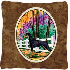 Doberman Indoor/Outdoor Throw Pillow