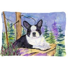 Boston Terrier Indoor/Outdoor Throw Pillow