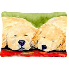 Spacial Price Golden Retriever Indoor/Outdoor Throw Pillow