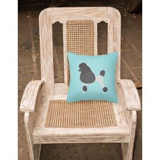 Poodle Indoor/Outdoor Throw Pillow