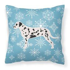 Winter Snowflakes Indoor/Outdoor Throw Pillow