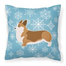 Winter Snowflakes Indoor/Outdoor Throw Pillow