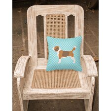 Beagle Indoor/Outdoor Throw Pillow