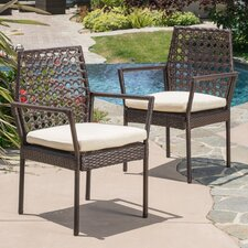 Byington Dining Arm Chair with Cushion (Set of 2)