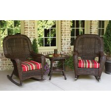 Fleischmann 3 Piece Rocker Seating Group with Cushions