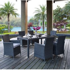 Bargain Bickerstaff 7 Piece Dining Set with Cushions