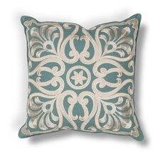Shady Dale Damask Indoor/Outdoor Cotton Throw Pillow