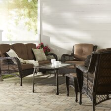 Herrin 6 Piece Wicker Seating Group with Cushions