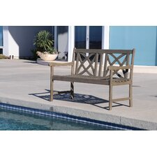 Today Sale Only Densmore Wood Garden Bench