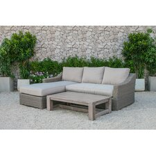 Naperville Outdoor Wicker 3 Piece Deep Seating Group with Cushion