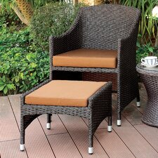 Hagemann 2 Piece Wicker Arm Chair Set