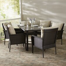 Hayton 7 Piece Dining Set with Cushion