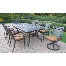 Lovely Vandyne 9 Piece Dining Set with Cushions