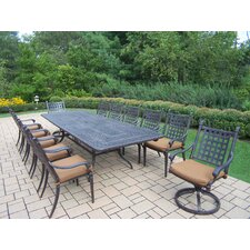 Vandyne 13 Piece Extendable Dining Set with Cushions