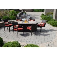 Spacial Price Delbert South Beach 7 Piece Dining Set