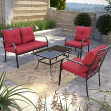 Dunrobin 4 Piece Deep Seating Group with Cushions