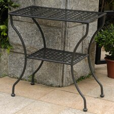 Doric Iron 2-Tier Patio Table