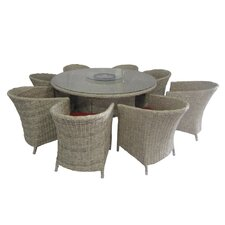 Crafton 9 Piece Dining Set with Cushion