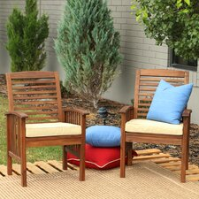 Widmer Dining Arm Chair with Cushions (Set of 2)