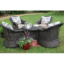Waddells 5 Piece Swivel Seating Group with Cushion