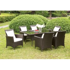 Read Reviews Derby 7 Piece Dining Set with Cushions