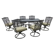 Hanselman 7 Piece Dining Set with Cushions